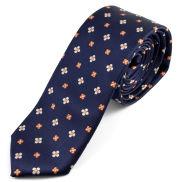 Corbata azul flores pequeñas
