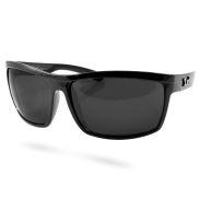 Glänzend schwarze Locs Sonnenbrille