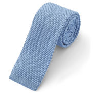 Pastel Blue Knitted Tie
