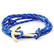 Hellblaues & Goldfarbenes Anker Armband