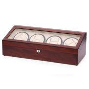 XL Cherry Wood Watch Winder & Storage Box - 20 Watches