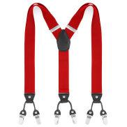 Wide Red Clip Braces