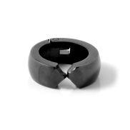 Kulatá široká černá náušnice