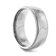 Stříbrný titanový prsten Grooved Edge