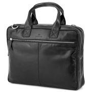 Черна чанта за лаптоп Jasper с два ципа