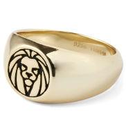 Løven 925s Gullbelagt Ring