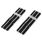 Opaski do koszuli w czarno-białe paski