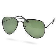 Matte Svarte Polariserte Pilotsolbriller