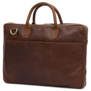 Sac Montreal Executive Slim 15 pouces en cuir marron