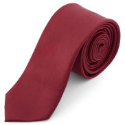 Burgunderrote Basic Krawatte 6 cm