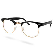 Black/Gold Transparent Vintage Glasses