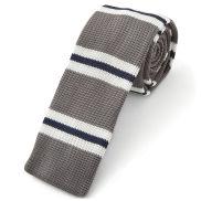 Corbata de punto gris y azul