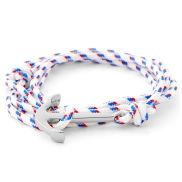Weißes Matrosen Anker Armband