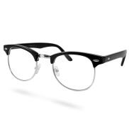 Black/Silver Clear Vintage Glasses