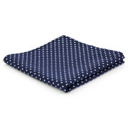 Polka Dots Navy Polyester Pocket Square