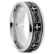 Стоманен пръстен с келтски кръст