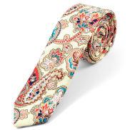 Cream Paisley Pattern Tie