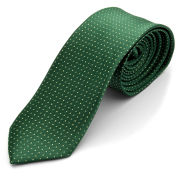 Corbata verde con lunares