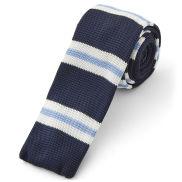 Πλεκτή Γραβάτα Blue Striped