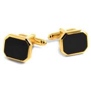 Stylische schwarz-goldene Manschettenknöpfe