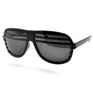 Zwarte Shutter Shades Zonnebril V2