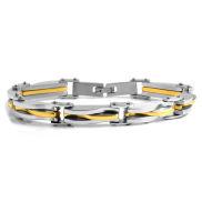 Arany és ezüstszínű láncos karkötő sebészeti acélból