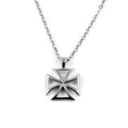 Ατσάλινο Κολιέ Maltese Cross