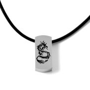 Black Dragon Leather Necklace