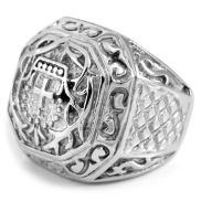 Roman Cross Solid Steel Ring