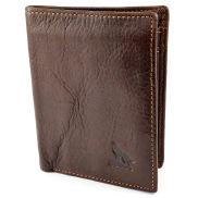 Skórzany portfel z wilkiem