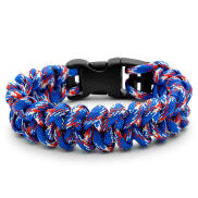 Paracord Armband in Blau & Rot