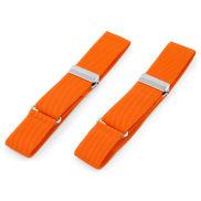 Brazaletes para camisa naranja chillón