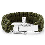 Green Adjustable Paracord Bracelet