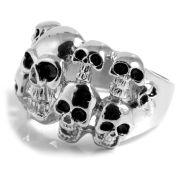 Ocelový prsten s lebkou Multi Skeleton