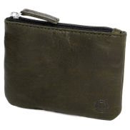 Montreal Sporty Olive RFID Leather Pouch