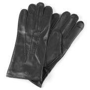 Μαύρα Δερμάτινα Διάτρητα Γάντια