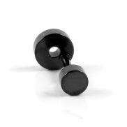 Schwarzer Kreis Ohrstecker 6mm