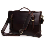 Кафява кожена чанта Teacher