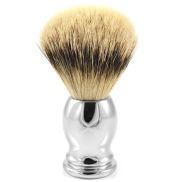 Steel Oval Silvertip Badger Shaving Brush
