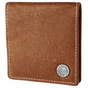 Porta-moedas em Pele Castanha Clara Oxford