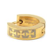 Goldene Klappcreole mit 3 Kreuzen