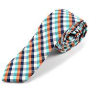 Corbata de lana a cuadros escoceses multicolor