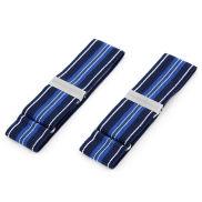 Blue Striped Sleeve Garters