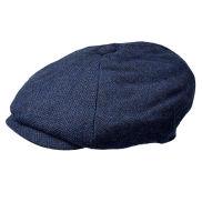 Blå Newsboy Cap