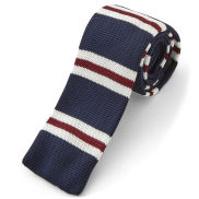 Formal Blue Knitted Tie