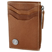 Oxford Tan Leather Zip Cardholder
