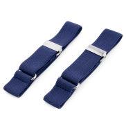Brazaletes para camisa finos en azul oscuro
