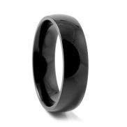 Traditionele ZwarteTitanium Ring
