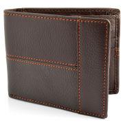 Portefeuille en cuir marron vintage
