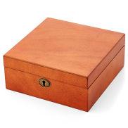 Luonnollisen ruskea kellolaatikko 6 kellolle